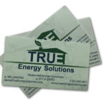 Old Business Card Design and Logo for True Energy Solutions