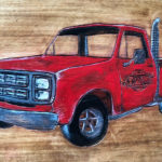 Lil Red Express on Wood