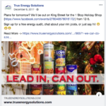 Lead In Can Out Campaign